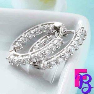 925 Silver Inside Out Huggie Earrings